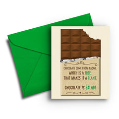 Chocolate is Salad Birthday - Fresh Frances Greeting Cards