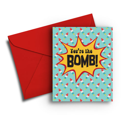 You're the Bomb Birthday Card