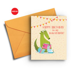 Little Reader Birthday Card