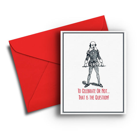 Shakespeare Birthday Card