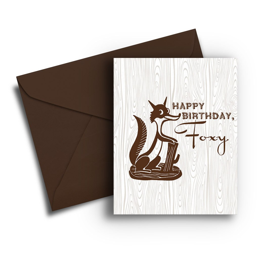 Foxy Birthday Card - Fresh Frances Greeting Cards