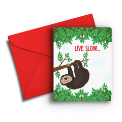 Sloth Belated Birthday Card - Fresh Frances Greeting Cards