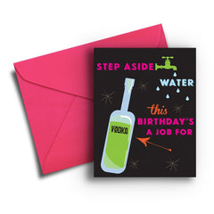 Step Aside Water Birthday Card - Fresh Frances Greeting Cards