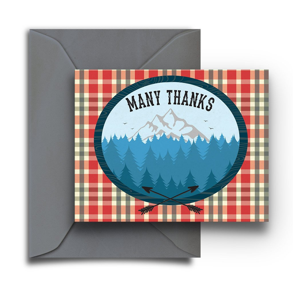 Plaid Mountain Boxed Notes - Fresh Frances Greeting Cards