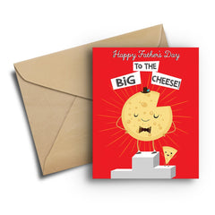 Big Cheese Father's Day Card - Fresh Frances Greeting Cards