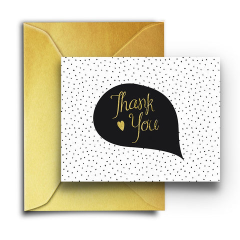 Black & Gold Dots Boxed Notes