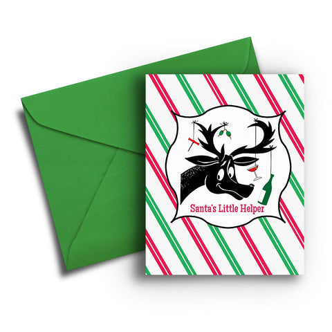 Santa's Little Helper Christmas Card