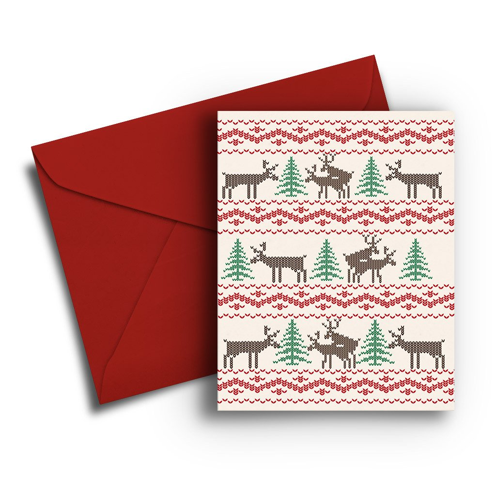 Naughty Deer Christmas Card - Fresh Frances Greeting Cards