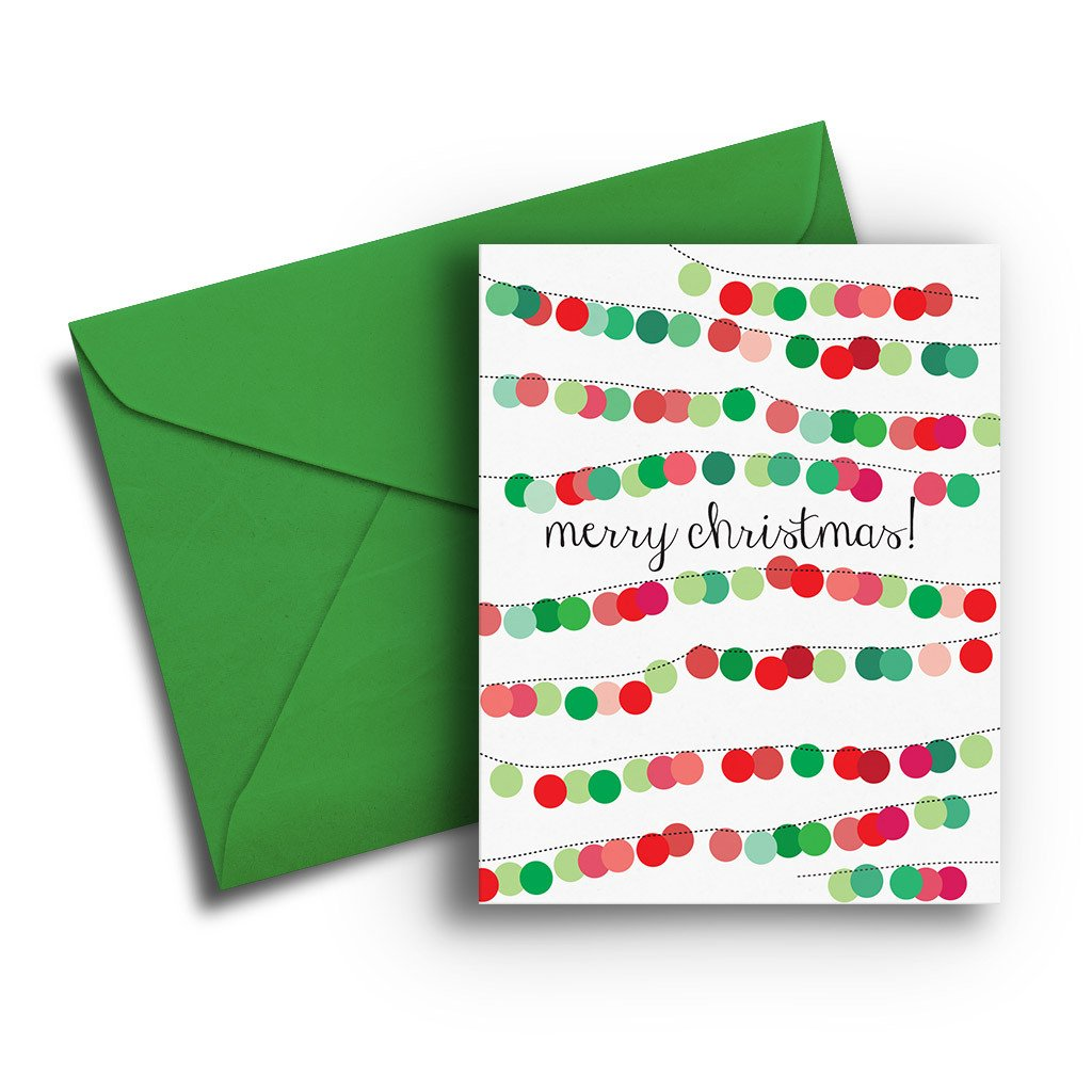 Festive Lights Christmas Card - Fresh Frances Greeting Cards