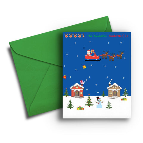Video Game Santa Christmas Card