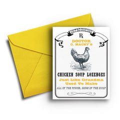 Chicken Soup Lozenges Get Well - Fresh Frances Greeting Cards