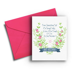 Generations Bat Mitzvah Card - Fresh Frances Greeting Cards