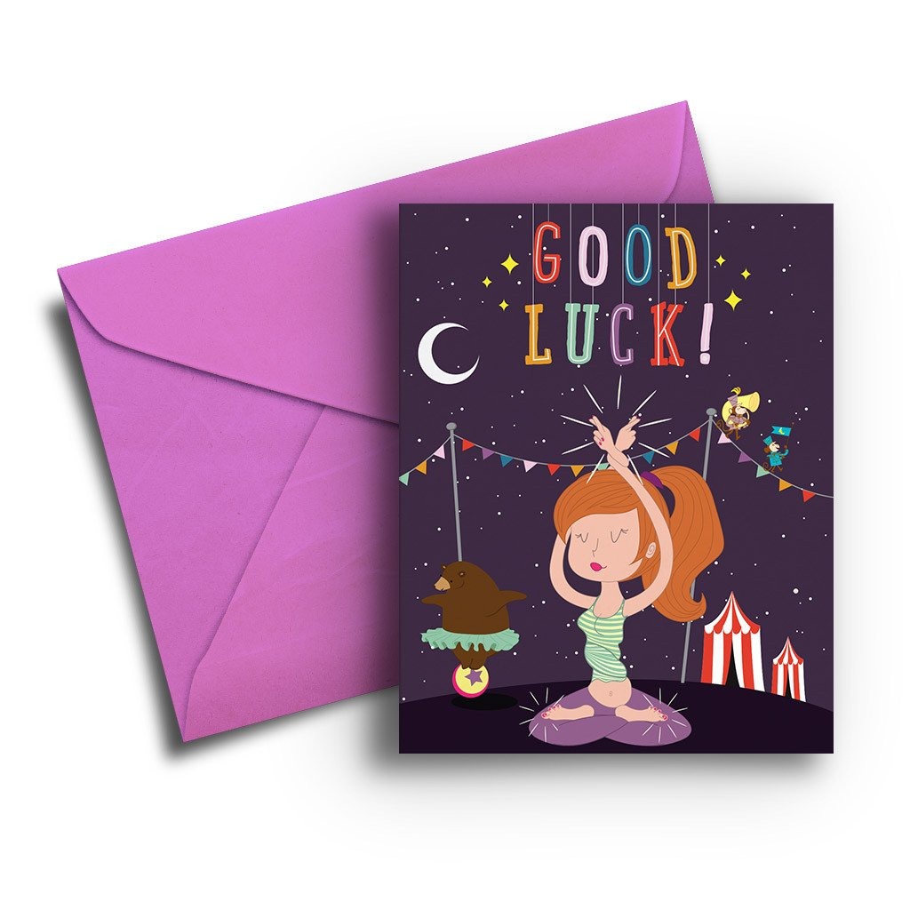 Cross Fingers and Toes Good Luck Card - Fresh Frances Greeting Cards