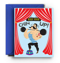 Keep Your Chin Up Card - Fresh Frances Greeting Cards