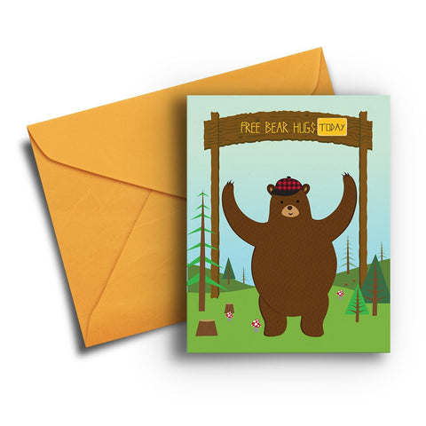Bear Hug Encouragement Card
