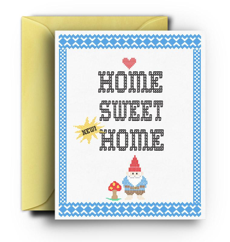 Home Sweet Gnome New Home Card - Fresh Frances Greeting Cards