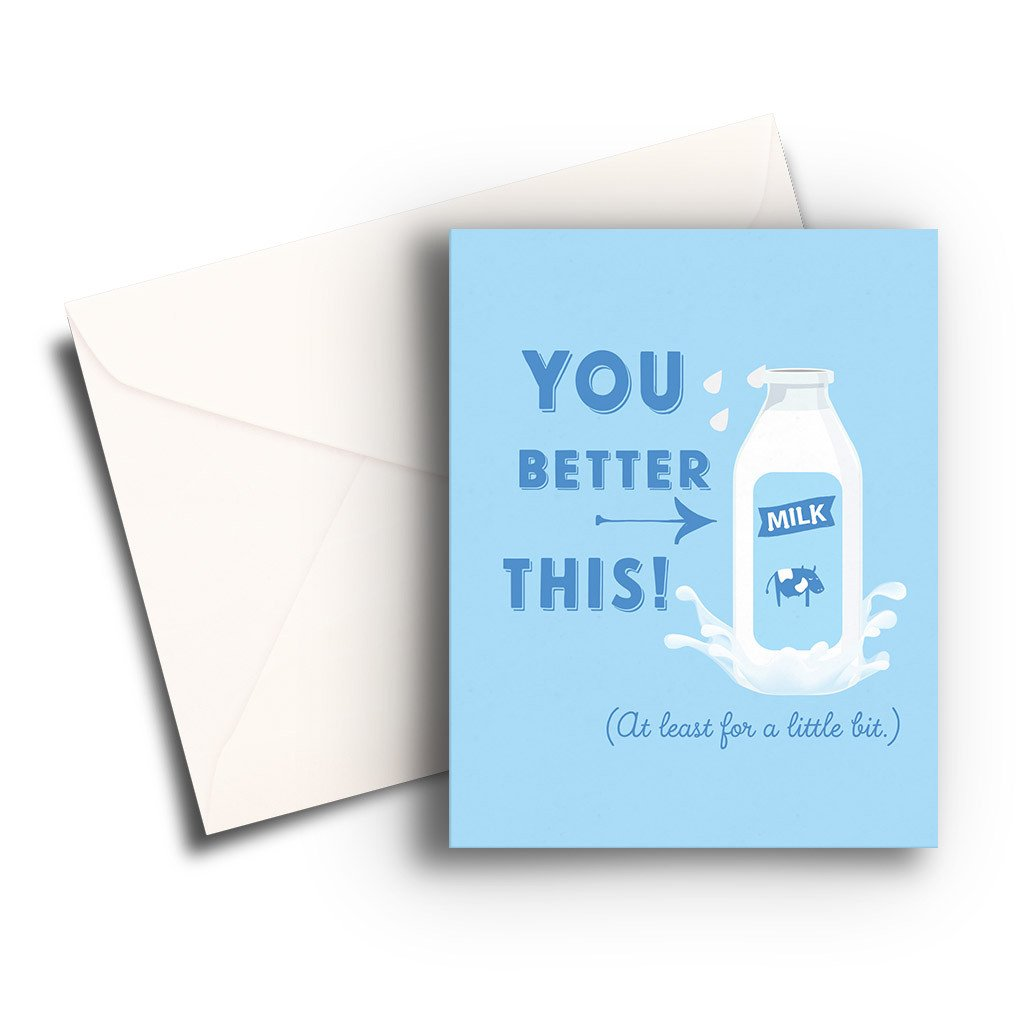 Milk This Get Well Card - Fresh Frances Greeting Cards