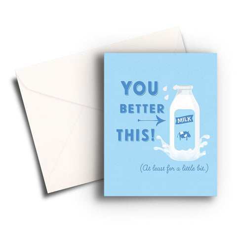 Milk This Get Well Card