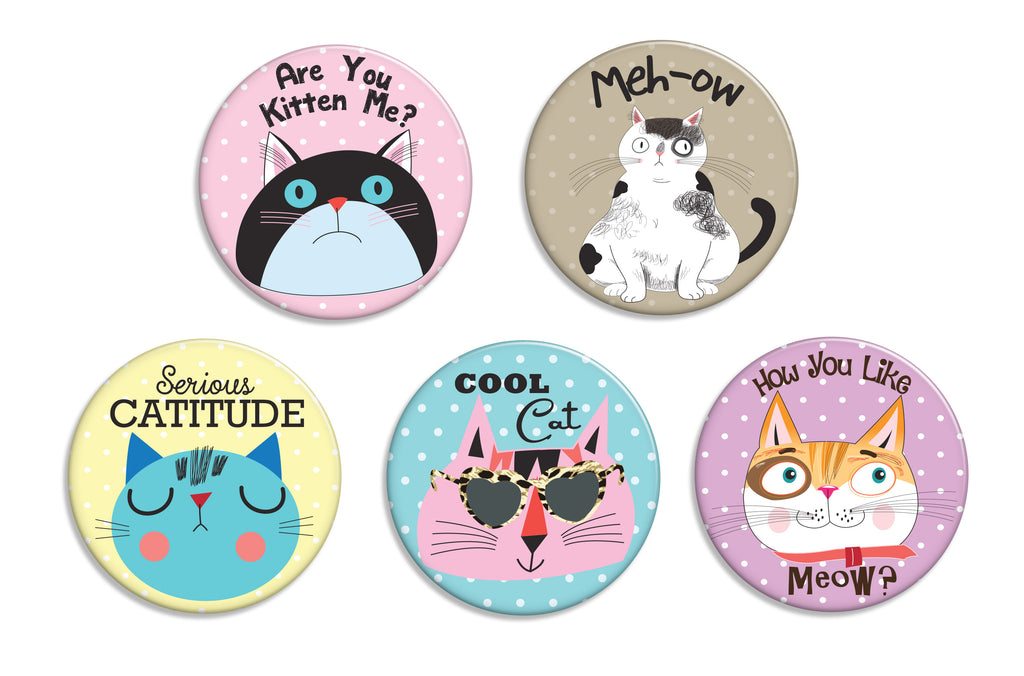 Catitude Buttons - Fresh Frances Greeting Cards