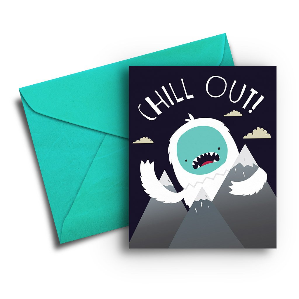 Chill Out! Yeti Card - Fresh Frances Greeting Cards
