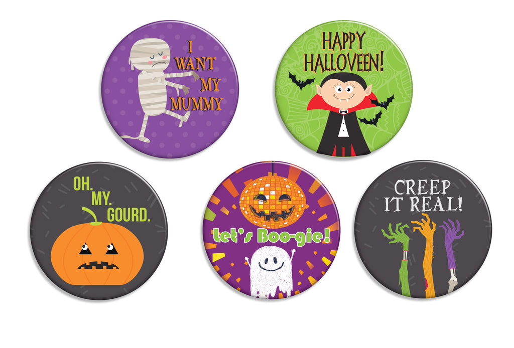 Creep It Real Buttons - Fresh Frances Greeting Cards