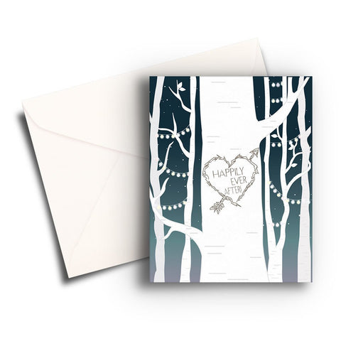 Fairy Lights Wedding Card