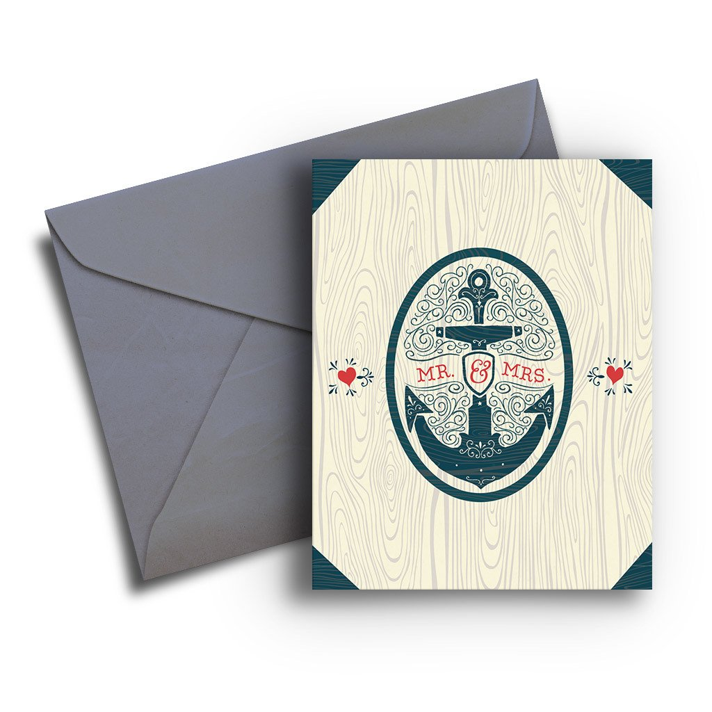 Anchor Wedding Card - Fresh Frances Greeting Cards