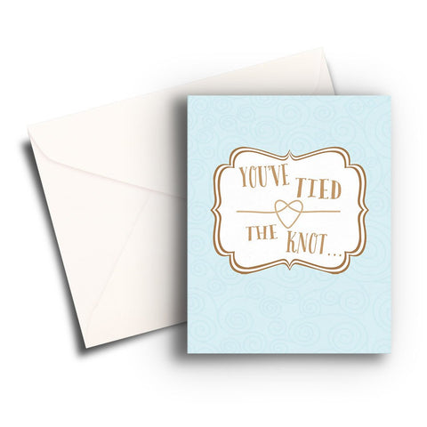 Tie the Knot Wedding Card