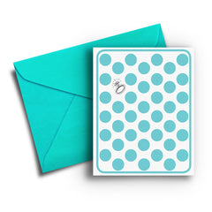 Ring & Dots Engagement Card - Fresh Frances Greeting Cards
