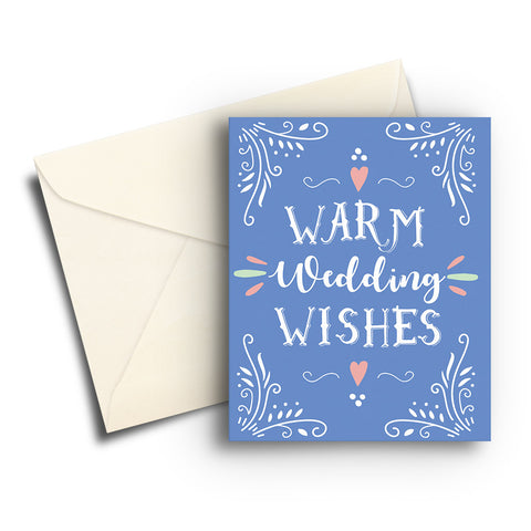 Warm Wedding Wishes Card