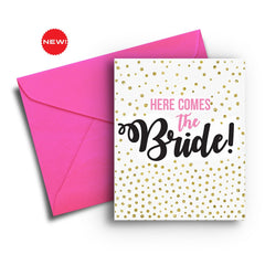 Here Comes the Bride Card - Fresh Frances Greeting Cards