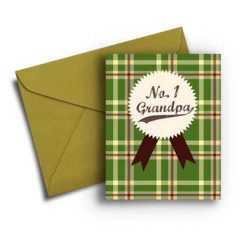 Plaid Grandpa Father's Day Card
