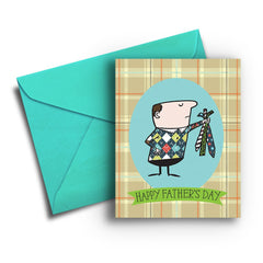 No More Ties Father's Day Card - Fresh Frances Greeting Cards