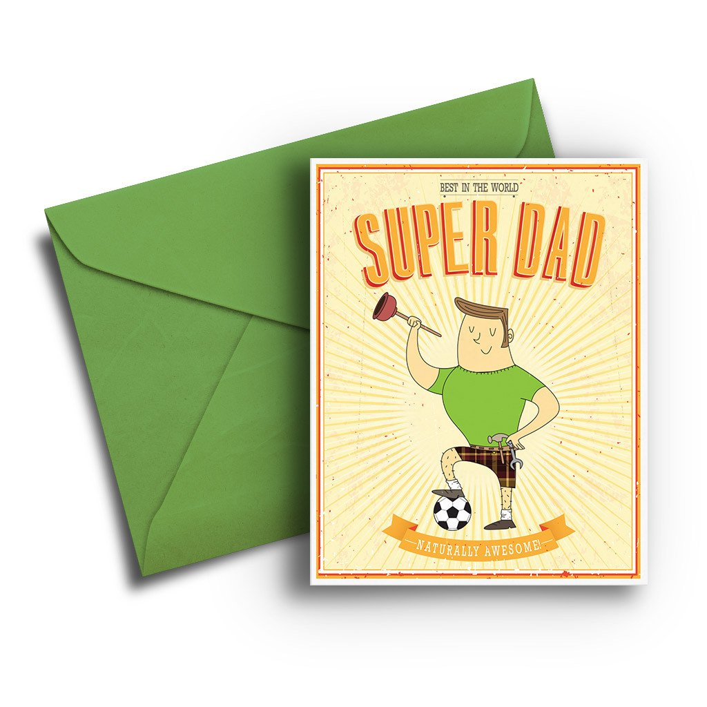 Super Dad Father's Day Card - Fresh Frances Greeting Cards