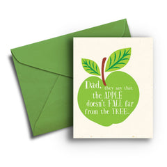 Dad Apple Fall from Tree Card - Fresh Frances Greeting Cards