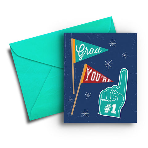 Foam Finger Graduation Card