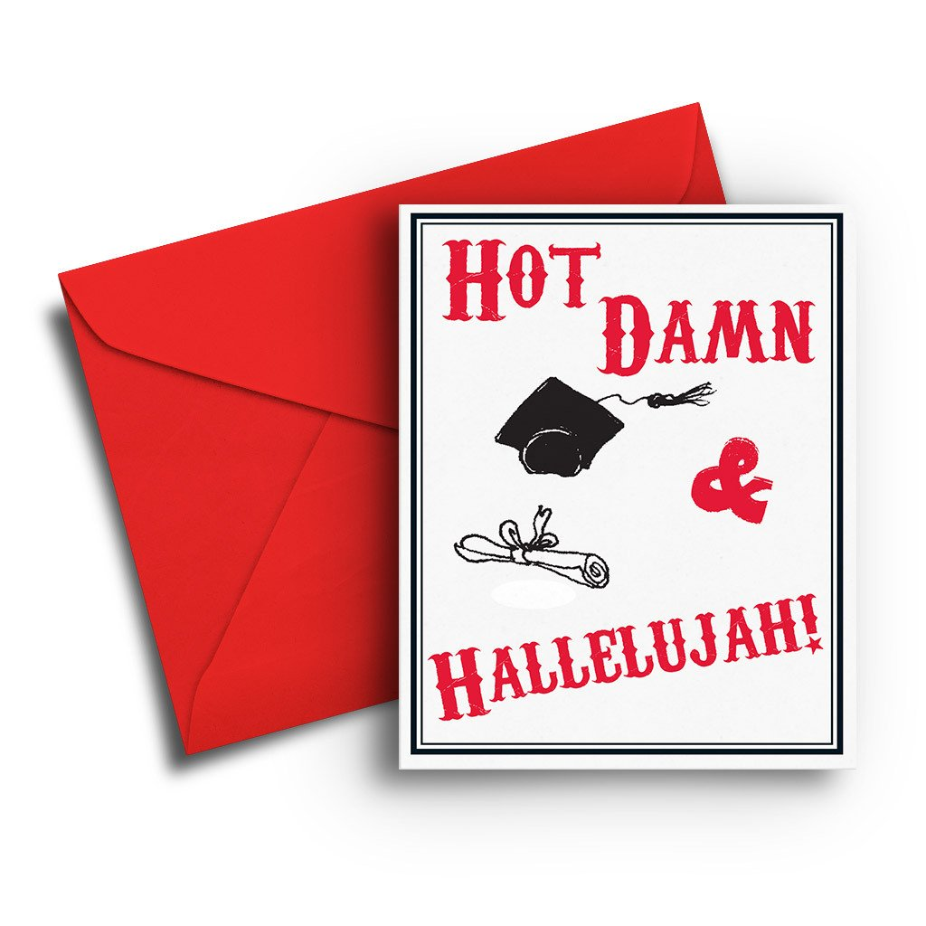Hot Damn Graduation Card - Fresh Frances Greeting Cards
