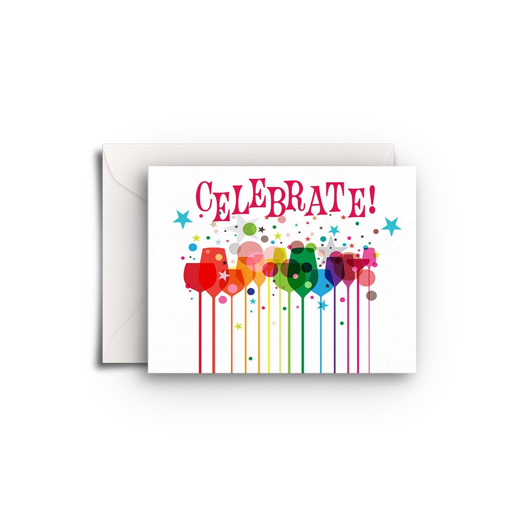 Celebrate Drinks Gift Enclosure - Fresh Frances Greeting Cards