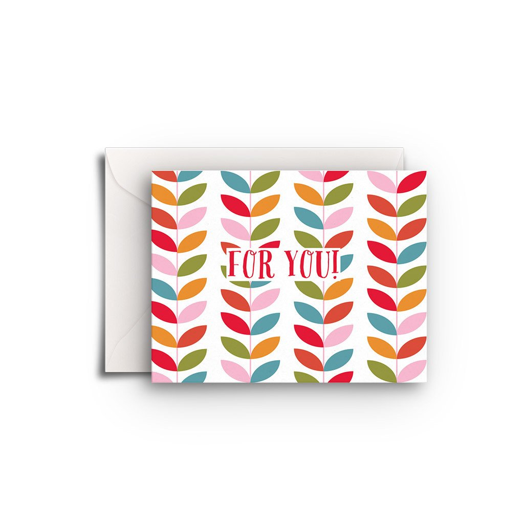 For You Leaves Gift Enclosure - Fresh Frances Greeting Cards