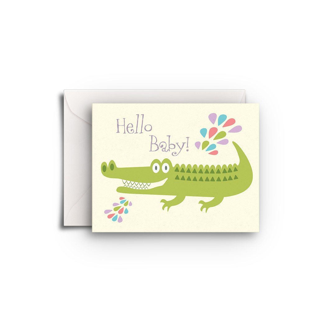 Alligator Gift Enclosure - Fresh Frances Greeting Cards