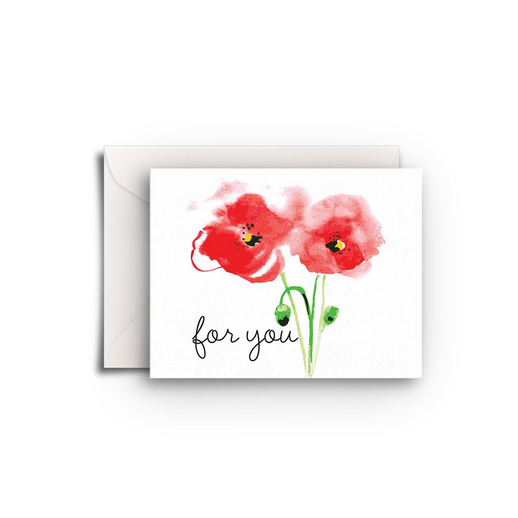 Poppies Gift Enclosure - Fresh Frances Greeting Cards