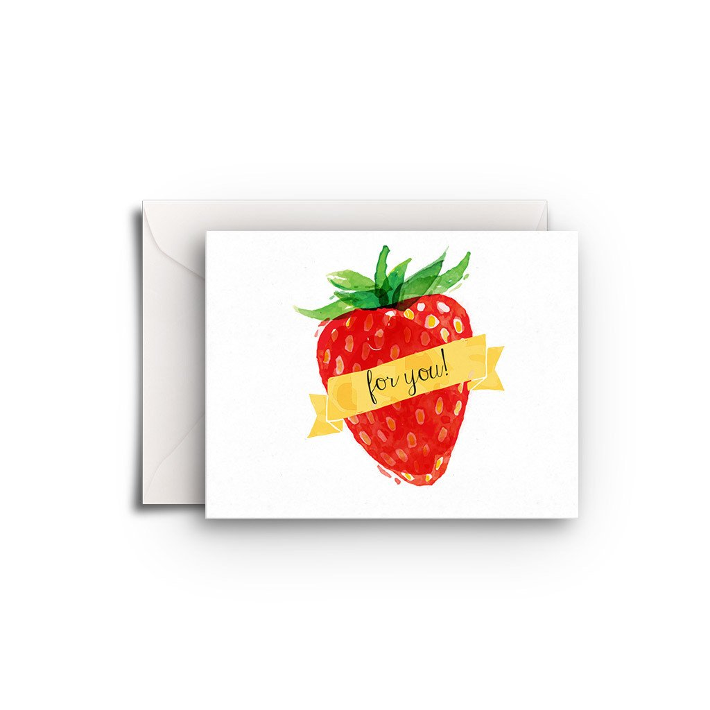 Strawberry Gift Enclosure - Fresh Frances Greeting Cards