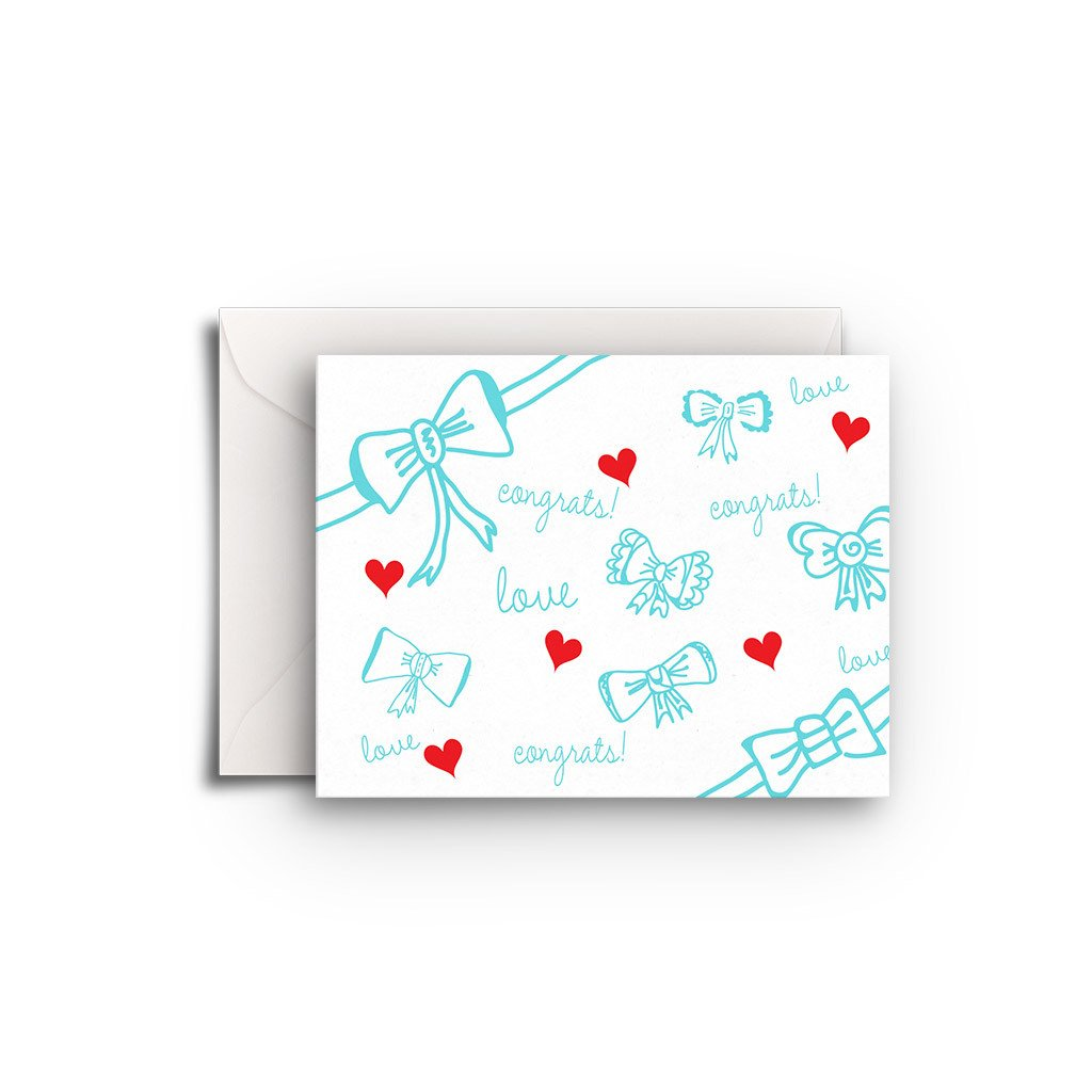 Bows and Love Gift Enclosure - Fresh Frances Greeting Cards