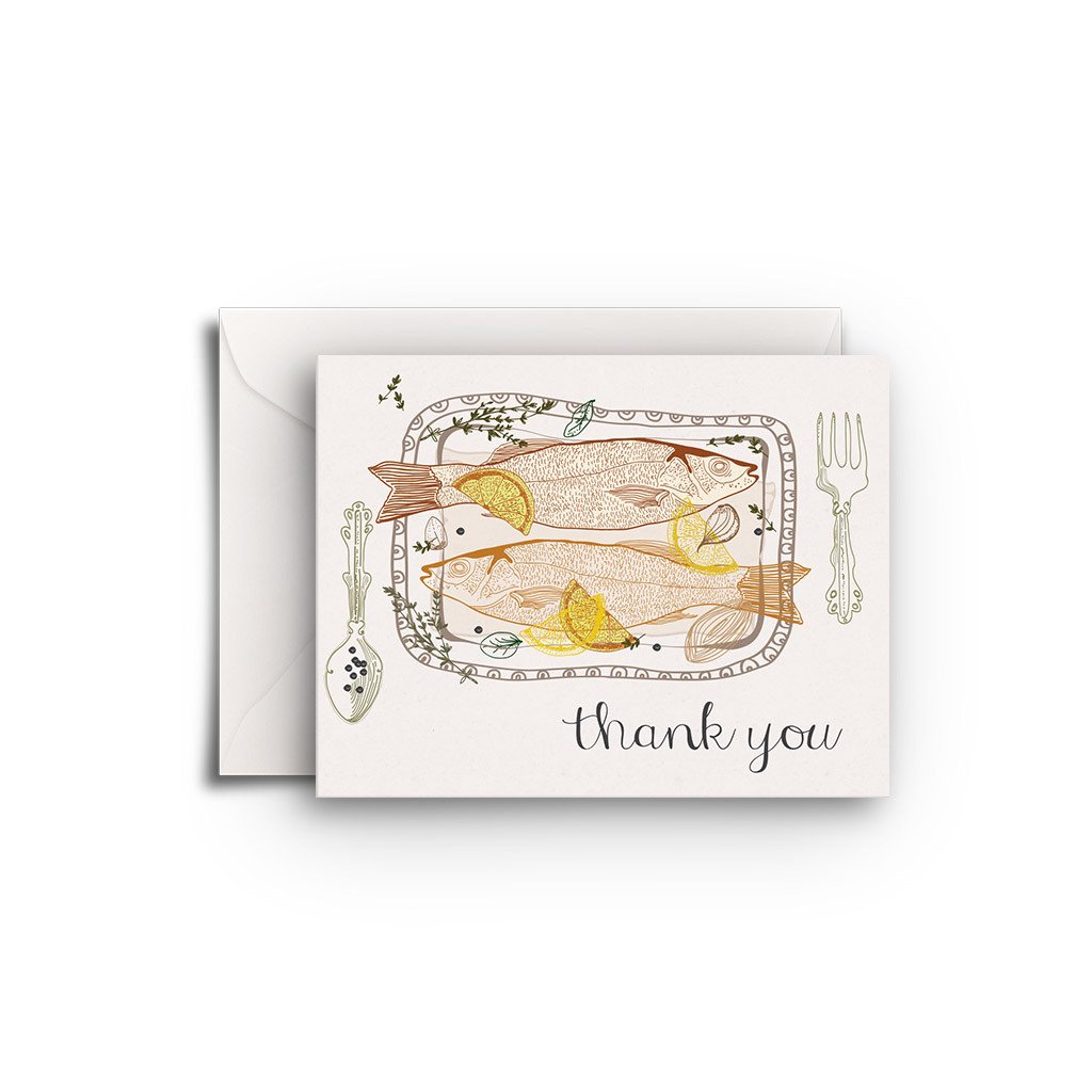 Fish Hostess Gift Enclosure - Fresh Frances Greeting Cards