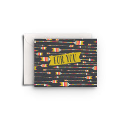 For You Arrows Gift Enclosure - Fresh Frances Greeting Cards
