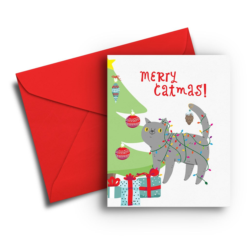 Merry Catmas! Christmas Card - Fresh Frances Greeting Cards