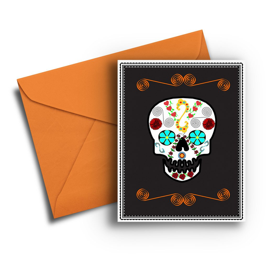 Dia de Los Muertos Halloween Card - Fresh Frances Greeting Cards