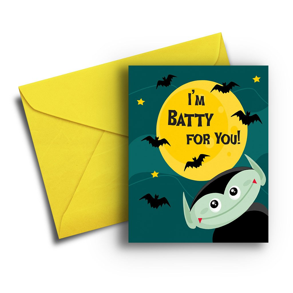 Batty for You Halloween Card - Fresh Frances Greeting Cards