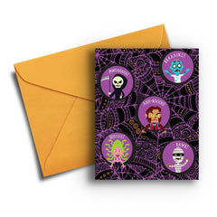 Monster Mash Up Halloween Card - Fresh Frances Greeting Cards
