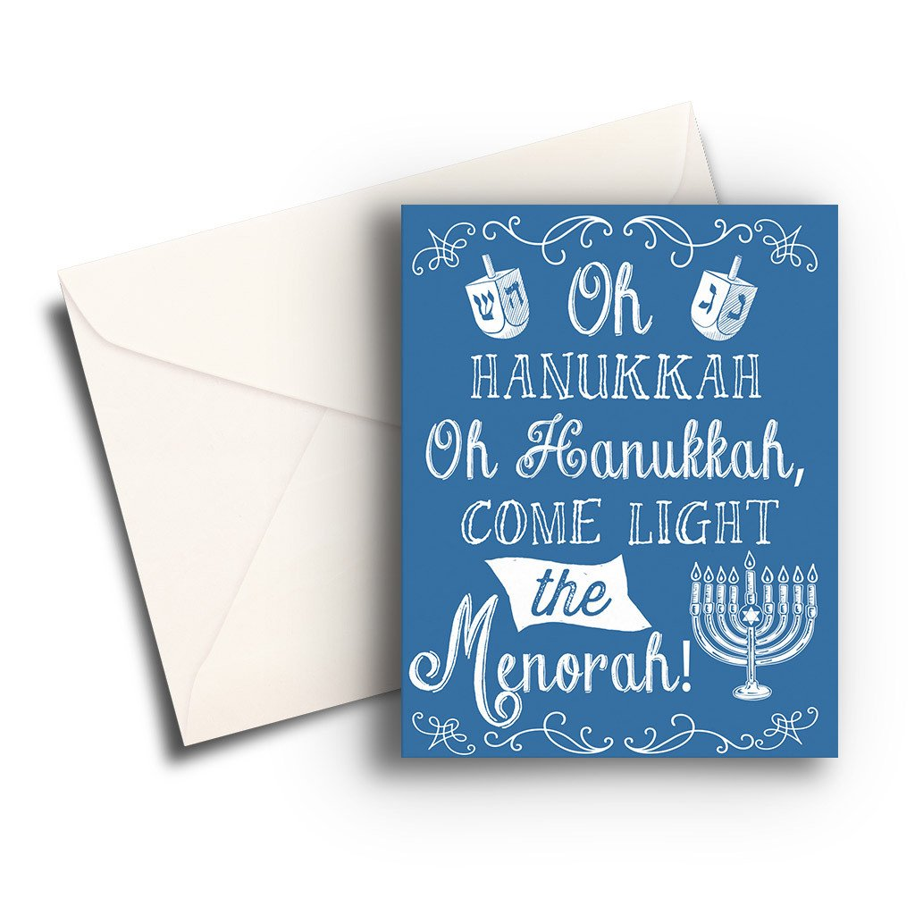 Light the Menorah Hanukkah Card - Fresh Frances Greeting Cards